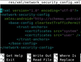Trusting user installed certificates via reverse engineering