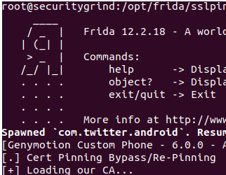 Bypassing Android SSL Pinning with FRIDA » Security Grind
